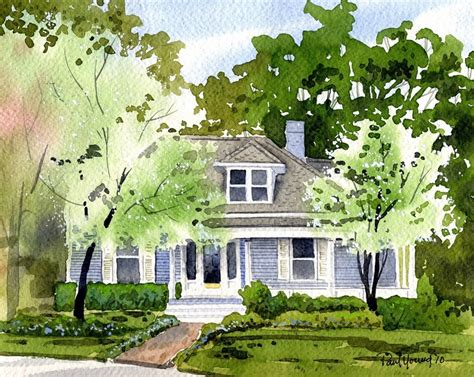 watercolor house painting watercolor home pinterest custom 8x10 watercolor home house portrait
