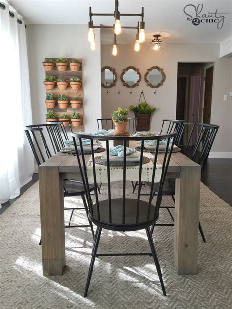 modern farmhouse dining room diy modern farmhouse table as seen on hgtv open concept