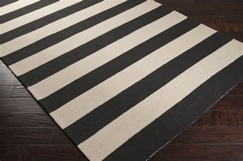 espresso and white striped area rug home