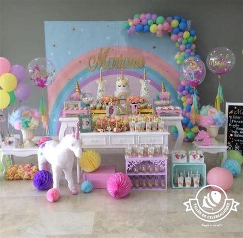 decorar paredes fiesta infantil fiestas infantiles de unicornios con las mejores ideas