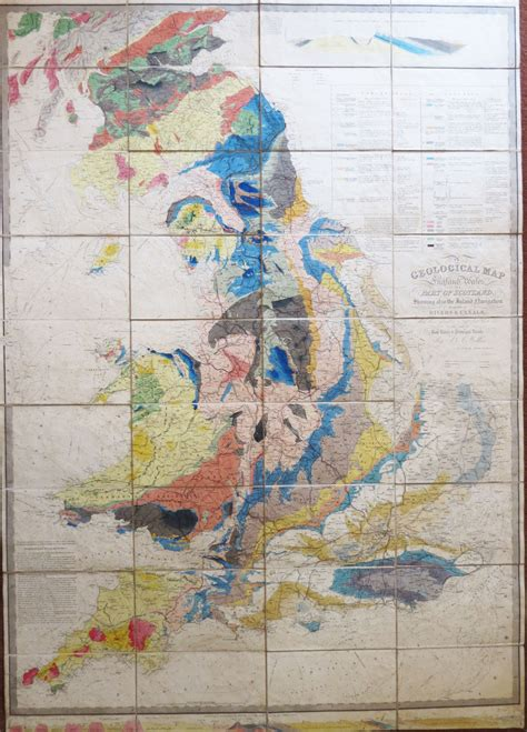 bow windows bookshop a geological map of wales and part of scotland