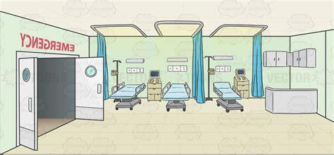 Restaurant Open Kitchen Design by Hospital Emergency Room Background Cartoon Clipart