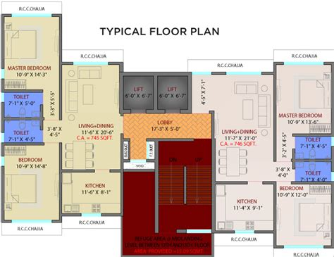 lumiere floor plan 717 sq ft 2 bhk 2t apartment for sale in suraj estate developers pvt ltd lumiere dadar west mumbai