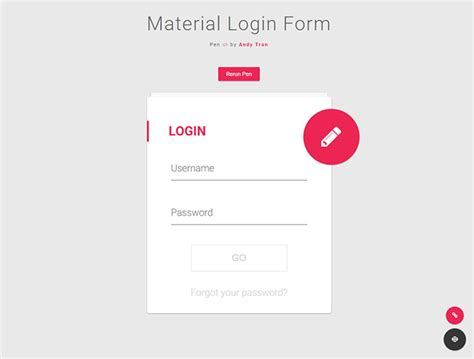 css layout login page 20 interesting css login form designs web graphic