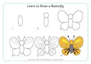 learn how to make doodle learn to draw a butterfly