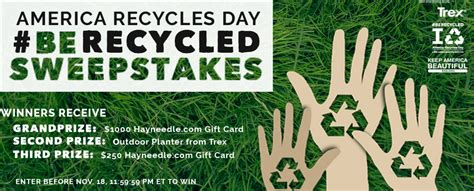 Waste Management Sweepstakes - recycling keep whitehouse beautiful