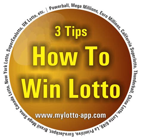 lottery how to win 3 tips to increase your chances of
