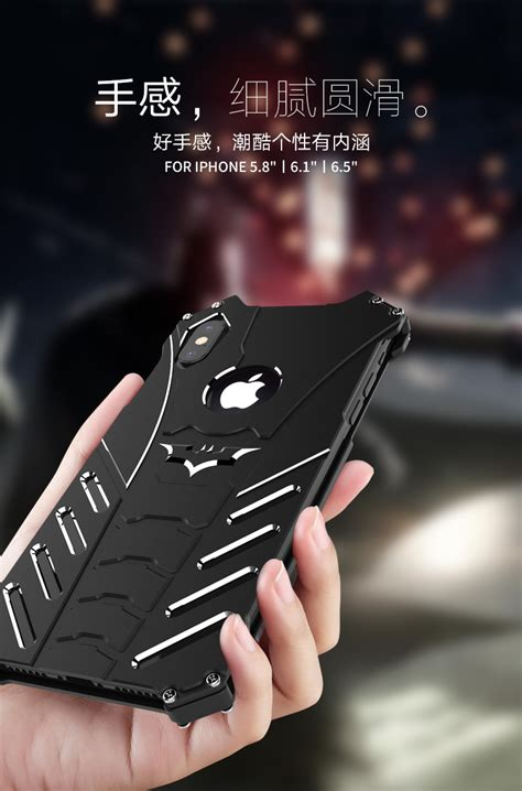 batman shockproof aluminum shell metal case  custom bataran armor king case