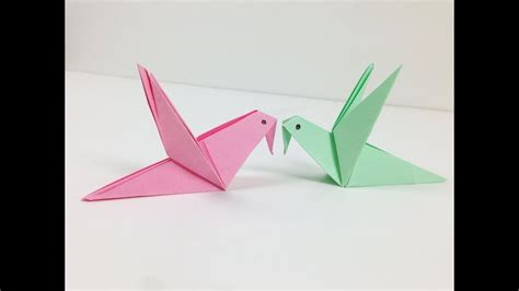 Origami Of A Bird - origami birds how to make a origami paper bird an