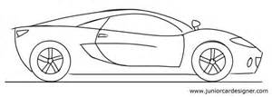 car drawing tutorial kids sports car side