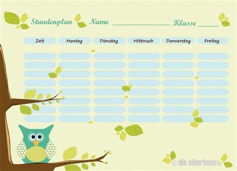 Kostenlose Vorlage Stundenplan 25 best ideas about stundenplan ausdrucken on