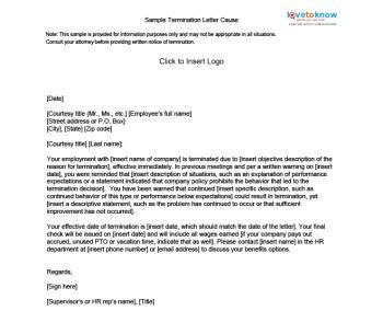 termination letter format for consultant sle termination letters lovetoknow