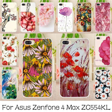 Casing Bunga Soft Jelly Flowers For Asus Zenfone 5 akabeila silicone phone cases cover for asus zenfone 4 max pro zenfone 4 max plus zc554kl