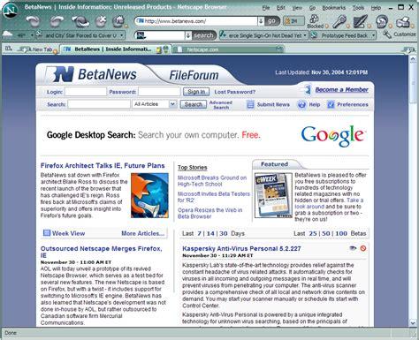aol netscape projeto continuum fim do netscape