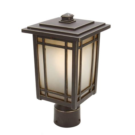 outdoor pillar mounted lights home decorators collection port oxford 1 light oil rubbed