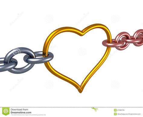 cadena de amor up love chain heart link romance concept royalty free stock
