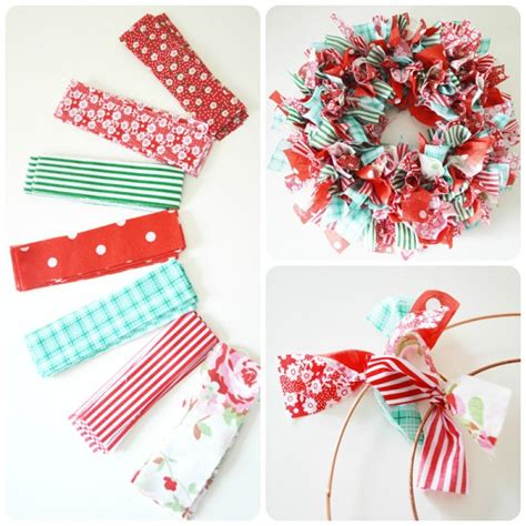 How To Make Handmade Wreaths - how to make a rag wreath cool diy wreath ideas with