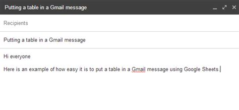 add a table to a gmail message tech smart edu
