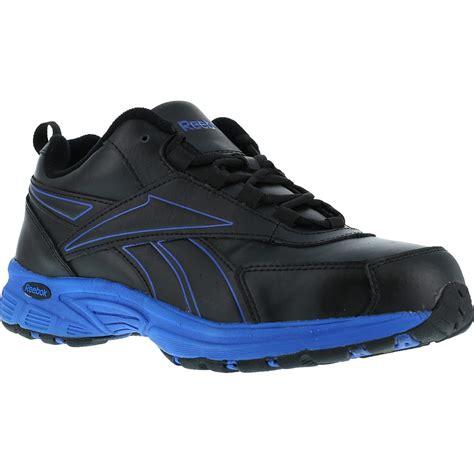 s black blue steel toe work athletic shoe reebok ateron