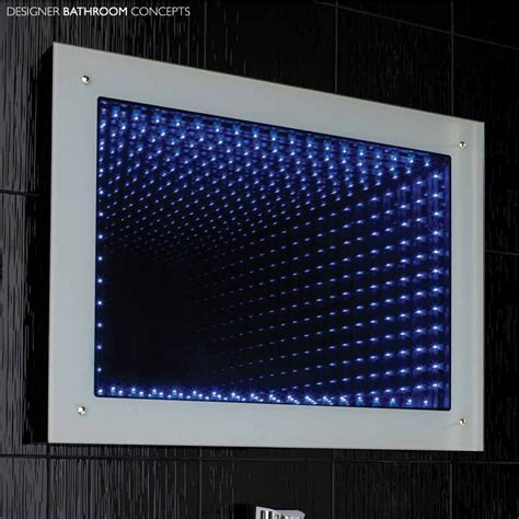 bathroom mirrors with led lights lucio infinity led bathroom mirror lq362