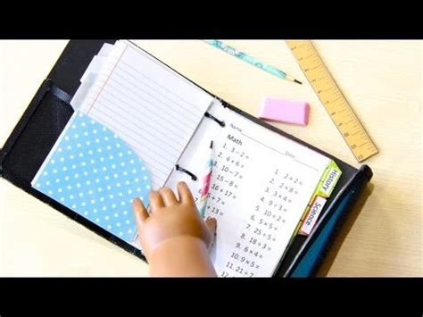 composition doll supplies how to make a doll school supplies binder doll crafts