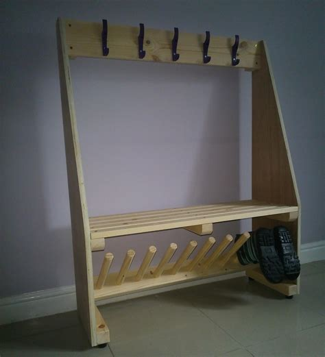 cloakroom bench seating cloakroom bench with welly rack