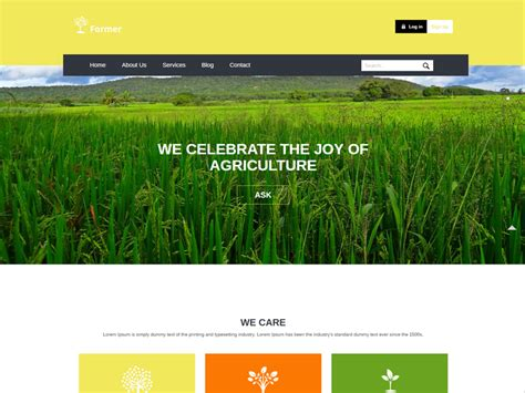 free bootstrap templates for agriculture former free responsive bootstrap agriculture template
