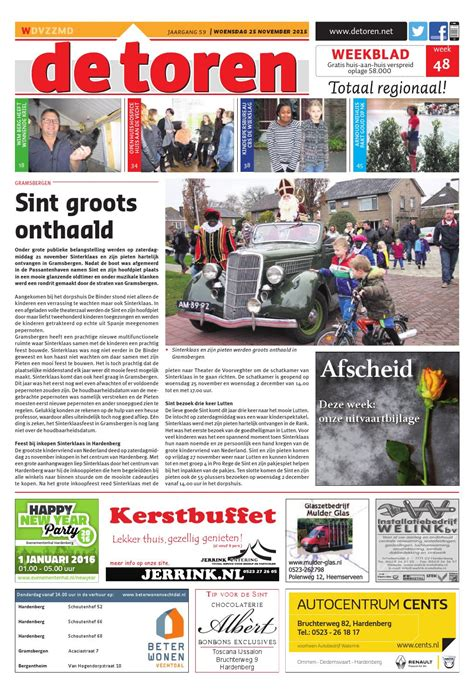 De Toren Week 50 2015 By Weekblad De Toren Issuu by De Toren Week 48 2015 By Weekblad De Toren Issuu