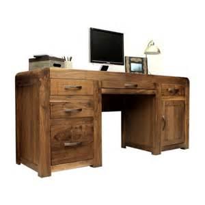 Walnut Home Office Desk Home Office Desk Shiro Walnut Furniture Pedestal Desk