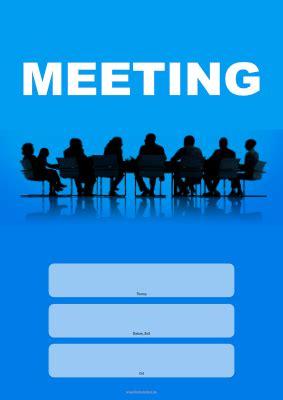 meeting einladung blau vorlage muster zum ausdrucken