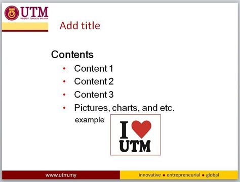 utm powerpoint template presentation template corporate publication branding
