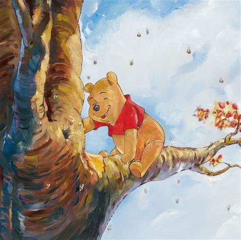 winnie the pooh painting out on a limb artinsights gallery
