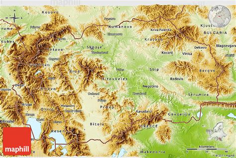 physical map of macedonia physical 3d map of macedonia