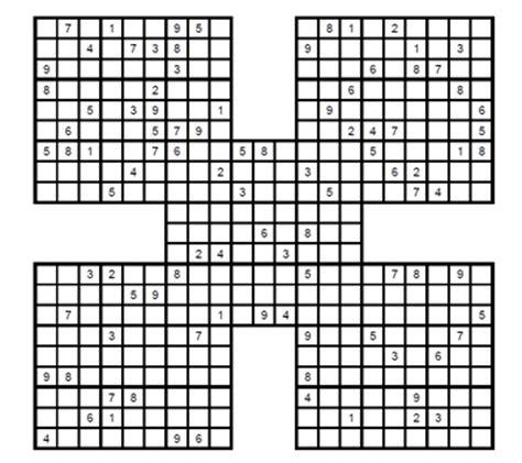 printable intermediate killer sudoku intermediate samurai sudoku 2 intermediate samurai sudoku