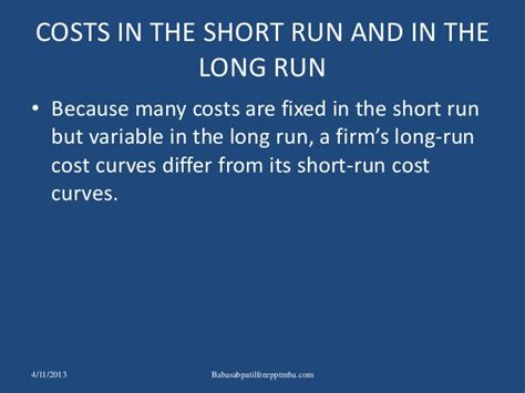 Shorter Mba Cost by The Costs Of Production Ppt Mba Finance Cost Accountancy