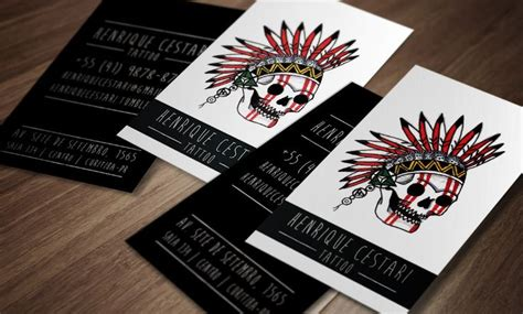 tattoo visiting card design business card artist brazil business card