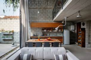 industrial home interior homes with small courtyards
