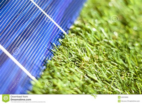 solar panel in the green royalty free stock photo image