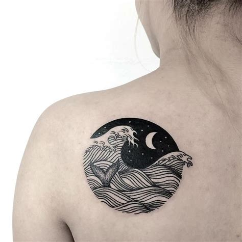 small wave tattoos 20 powerful wave tattoos