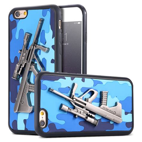 Armor Guard Iphone 5 5s Se Black Soft Hybrid Casing cool metal gun camouflage for iphone 5 5s se slim combo soft tpu pu leather armor armor