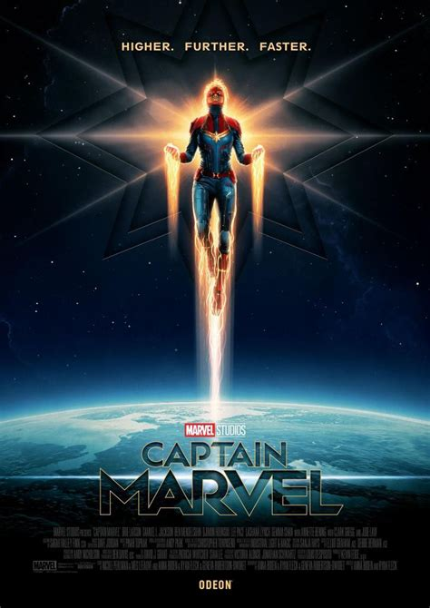 higher  faster captain marvel posters