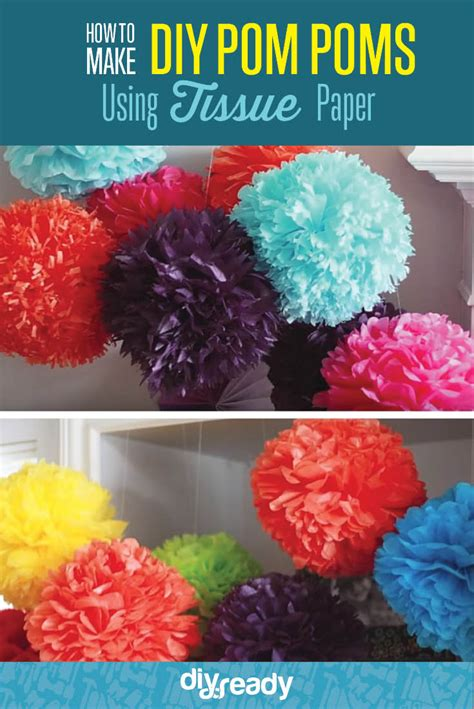 Make Paper Pom Poms - how to make diy tissue paper pom poms diy ready