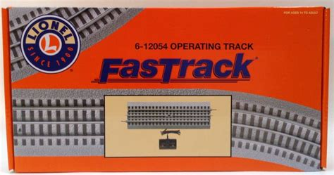 lionel fastrack operating track section lionel o operating fasttrack 6 12054 trains on tracks llc