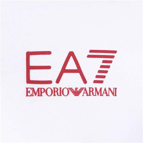logo black and white stripes stripe blocked ea7 logo polo black white s w fashion italia touch of modern
