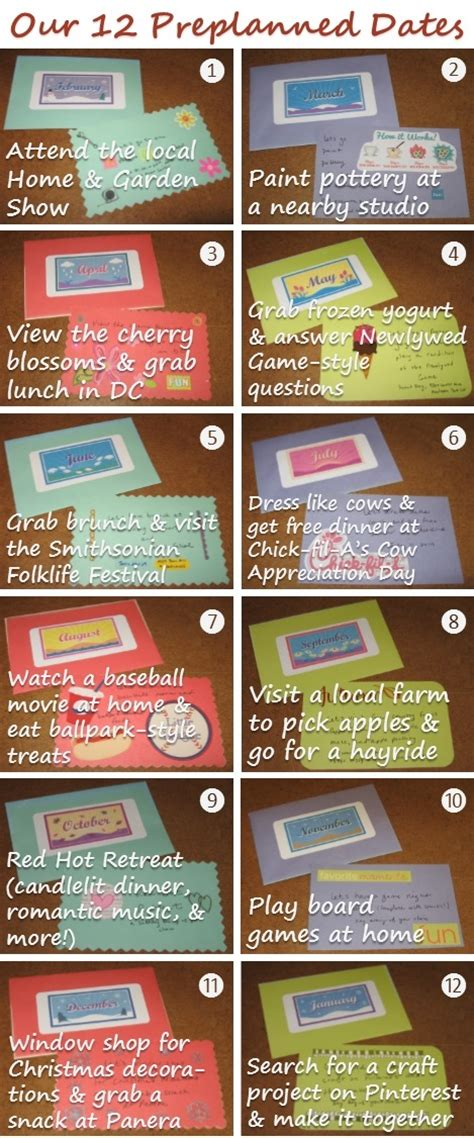 date ideas for him a year of preplanned dates gift idea