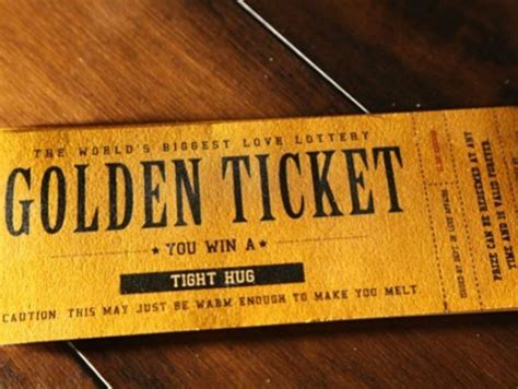 Golden tickets   Best Birthday, Anniversary, Courtship