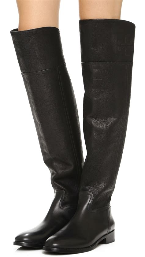 The Knee Boot by Lyst Burch The Knee Boots In Black