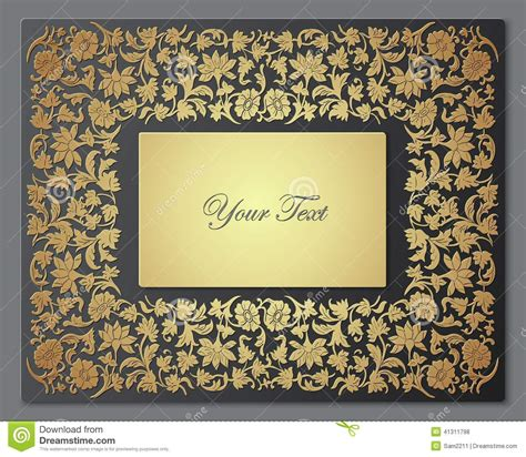 vector pattern for wedding invitation save the date floral card border frame stock vector