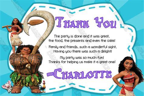 Moana Birthday Card Template by Novel Concept Designs Moana Disney Birthday
