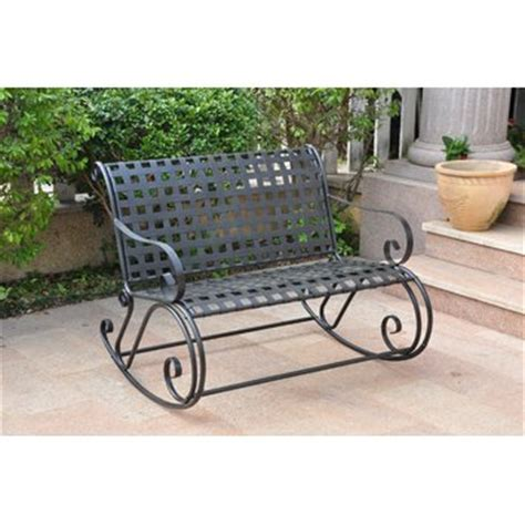 Kursi Teras Besi International Caravan Mandalay Scroll Patio Rocker